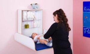Wandcommode – slim alternatief voor de klassieke baby-commode