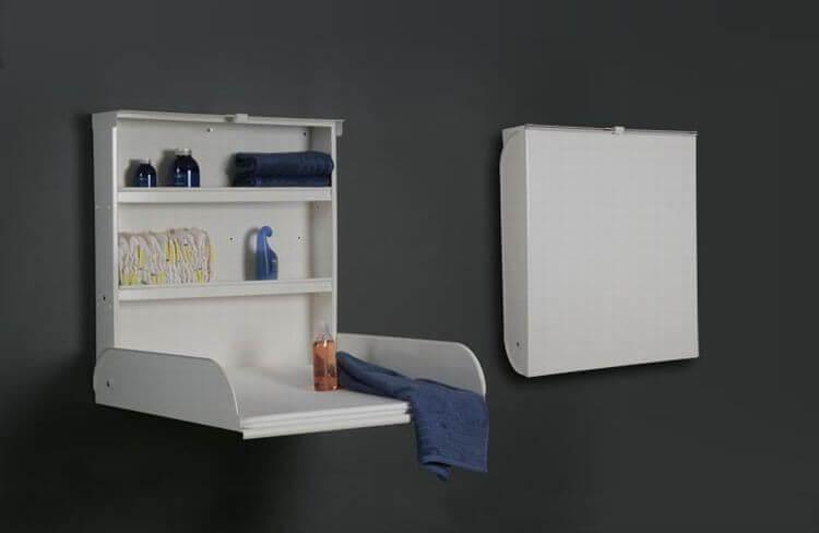 Voordelen opklapbare wandcommode met opbergruimte