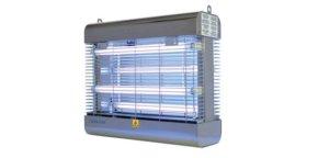 Elektrische Vliegenlamp Genus Liberator 60W van Insect-O-Cutor van RVS met Stroomrooster en Breukbestendige UV-buizen. Ideaal voor Horeca & Bakkerij, Industrie en Landbouw.