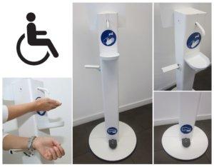 Desinfectiepalen voor Rolstoelgebruikers & Mensen met een Handicap