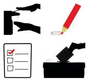 Desinfectiezuilen voor Verkiezingen & Stembureaus