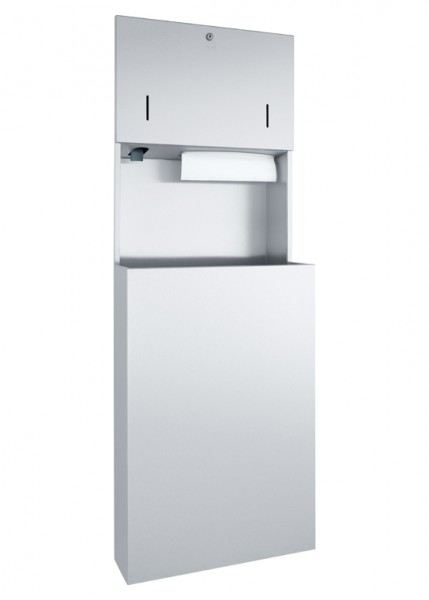 Combinatie inbouw dispenser WP5410 voor zeep, handdoekjes + afvalbak van Wagner Ewar GmbH 727529,729529,731529. A-lijn product.