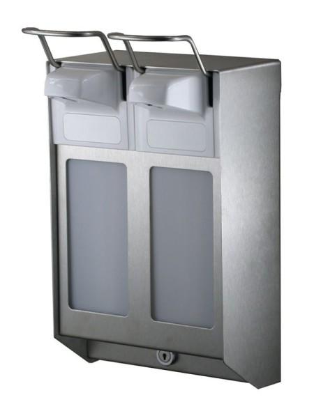 Mediqo-Line Duo zeep-/desinfectiemiddelendispenser RVS 500 ml MediQo-line 8310