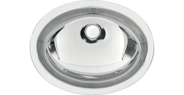Franke ovale waskom voor inleg of voor onderbouwmontage gemaakt van roestvrij staal Franke GmbH Farbe:Edelstahl poliert RNDH450-O,RNDX450-O