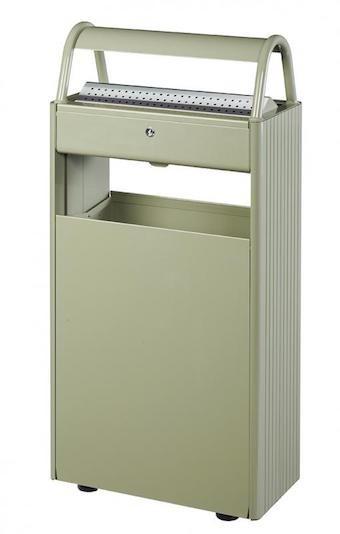 Kopa gecombineerde asbak/vuilnisbak 60L/12L met slot, leverbaar in 4 verschillende kleuren Rossignol 56447,56461,56448,56591
