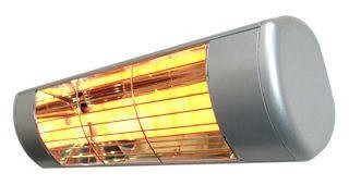 Heatlight silver heater HLW15S with infrared technology - for outdoor use 1500W Heatlight Infrarot HLW15S