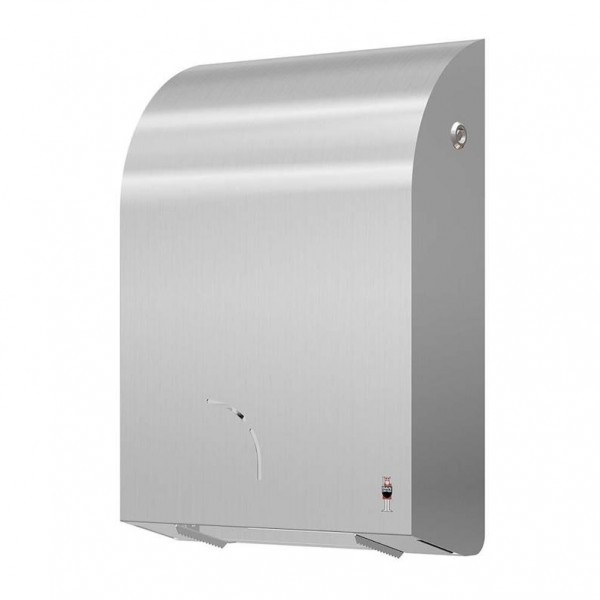 Dispenser for toilet paper made of brushed stainless steel with lock from Dan Dryer Dan Dryer A/S 289