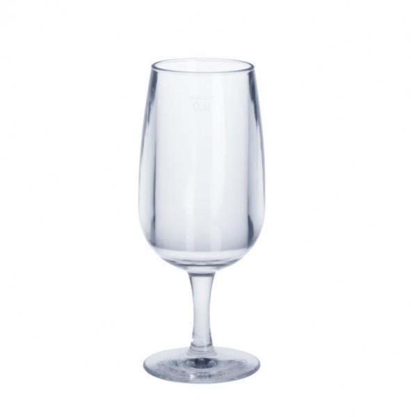 0,1l wine glass crystal clear SAN of plastic food safe Schorm GmbH 9096