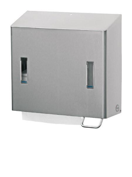 Ophardt Hygiene SanTRAL CPU 2 R Compacte Dispenser combinatie voor zeep en vouwdoekjes - 147300, 453800