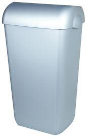 PlastiQline afvalbak RVS look voor wandmontage of vrijstaanding PlastiQ-line 5671