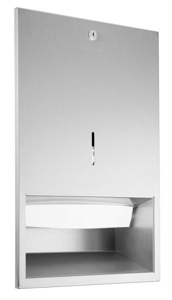 Wagner-EWAR RVS handdoekdispenser WP112 geschikt voor inbouwmontage