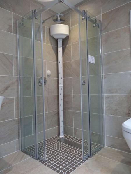 Lavicta lichaamsdroger voor het afdrogen na het douchen zonder handdoek. Comfortabel, milieuvriendelijk en zuinig.