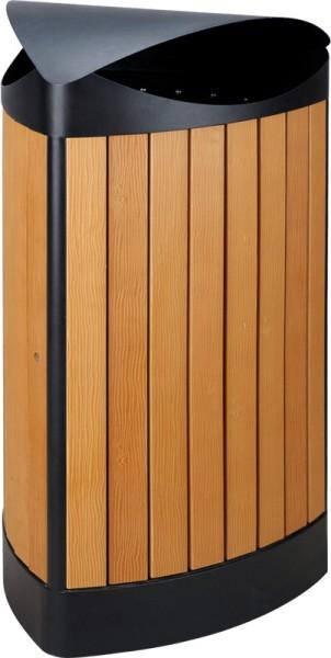 Driehoekige buitenafvalbak houtlook 31667871