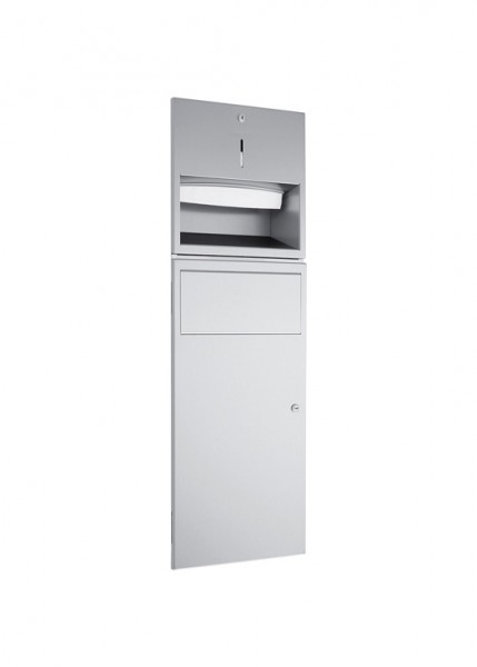 Combinatie inbouw dispenser WP530 voor handdoekjes en afvalbak van Wagner Ewar GmbH 722982,728092,731982