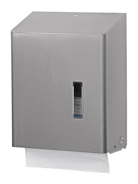 Papieren vouwhanddoek dispenser van RVS met slot Ophardt Hygiëne SanTRAL HSU 31 - 386900,1417719,196400,1417720