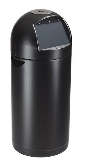 Zwarte Vuilnisbak 52 L van polyethyleen kunststof met asbak Rossignol Rossignol 57428