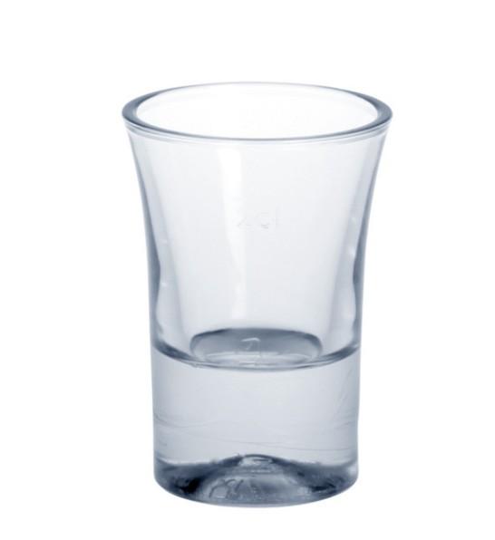 Shot glas 2 cl SAN kristal helder van kunststof herbruikbaar Schorm GmbH 9092