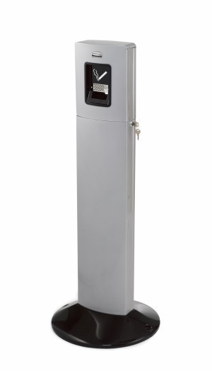 Stand smoker's station for 1800 cigarettes made of aluminium RUBBERMAUD Rubbermaid RU FGR93400BK
