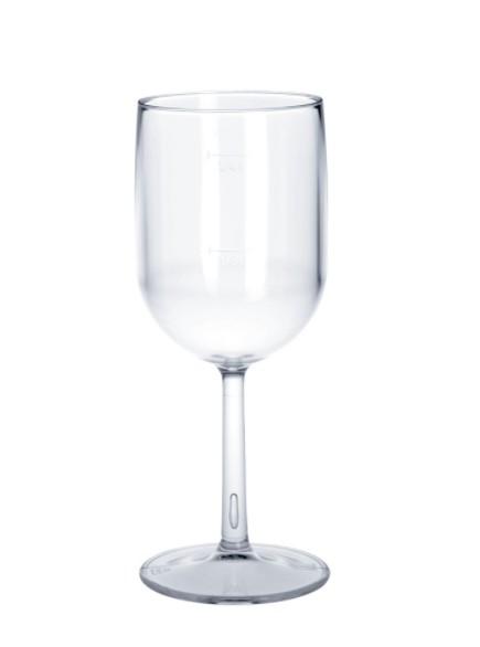 Plastic wijnglas 1 / 8l - 1 / 4l SAN kristalhelder herbruikbare vaatwasserbestendig Schorm GmbH 9048