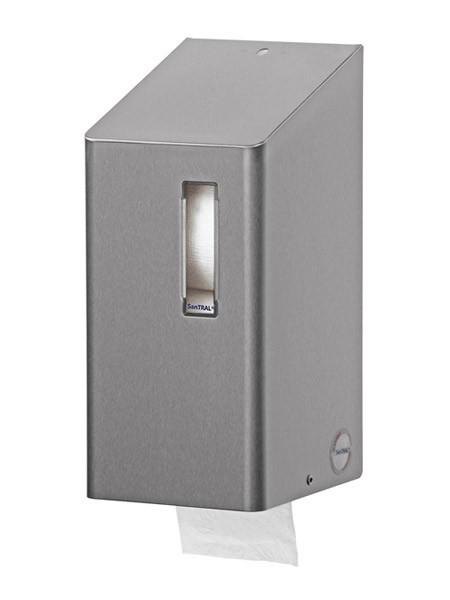 Toiletpapier dispenser voor 2 standaard toiletrollen met een slot Ophardt Hygiene SanTRAL TRU 2 - 410700,1405