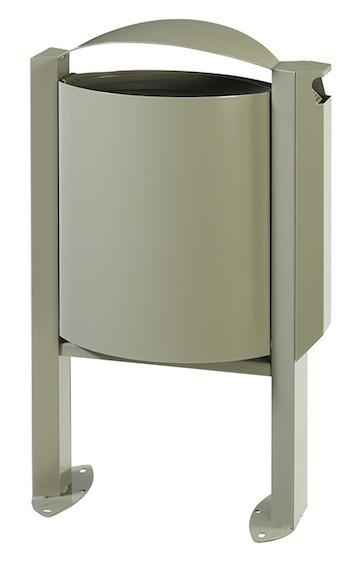 Arkea vuilnisbak 40L met voet en vergrendelingssysteem met asbak 3L van Rossignol Rossignol 56535,56538,56539,56249
