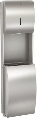 Papieren handdoekdispenser- en afvalbakcombinatie gemaakt van RVS van Franke Franke GmbH STRX602E