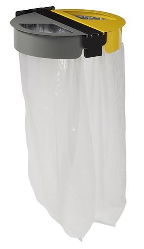 Wandhouder voor 2x110l afvalzakken gemaakt van gepodercoat UV-bestendig staal Rossignol 58634,58636