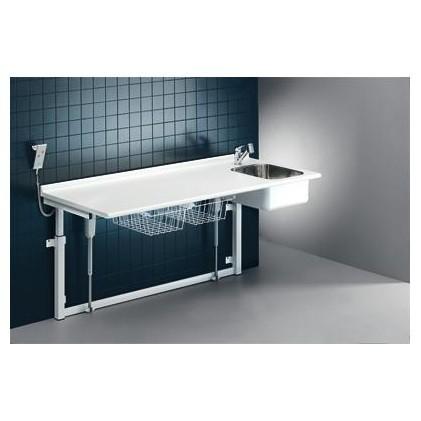 Pressalit-verschoontafel 800 x 1800 mm met sanitaire voorzieningen - elektromotor Pressalit R8733