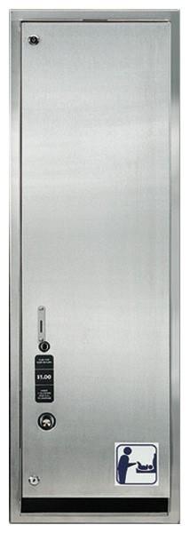 RvS verkoopautomaat voor handige luier-sets, dubbel slot voor meer zekerheid