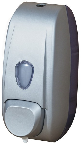 Soap dispenser for refilling consists of plastic and satin color is operated by push-button Marplast S.p.A. 701S