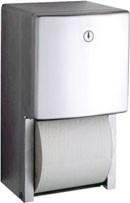 B-4288 satin brushed stainless steel surface mounted multi roll toilet tissue dispenser Bobrick B-4288