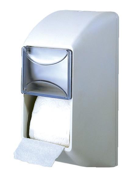 Witte dubbele wc-papier dispenser gemaakt van kunststof voor wandmontage MP670 Marplast S.p.A. MP670