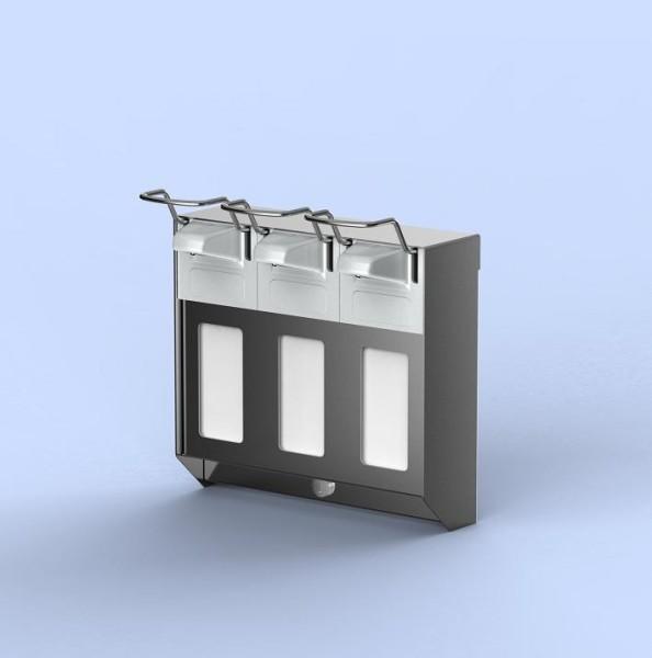 TRIO zeep- & desinfectiemiddeldispenser RVS 500ml van MediQo-line MediQo-line 8320,8325