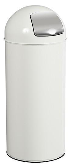 Push vuilnisbak 45L met scharnierend RvS inworpklep in 11 verschillende kleuren van Rossignol Rossignol 57467,57469,59793,57468,57472,57473,57474,57421,57422,57423,57424