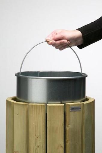 Rossignol 20 L binnenemmers gemaakt van staal met geperforeerde bodem en Henkel Rossignol 56780