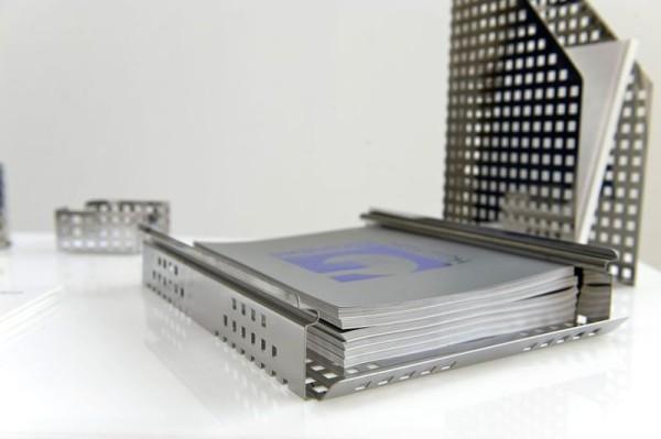 Graepel G-Line Pro QUADROTTO bureau organizer van gepolijst roestvrij staal G-line Pro K00016180