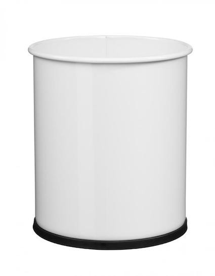 Trash papier 8L met grijprand en met plastic basis van Rossignol Rossignol 59781,59791,59804,59779,59780,59784,59843,59844,59845,59846,59785