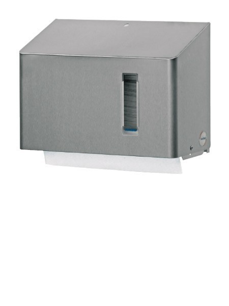 RVS Dispenser voor verschillende papieren vouwhanddoeken ca. 250 - 300 vellen Ophardt Hygiene SanTRAL HSU 15 - 1416827,1416828