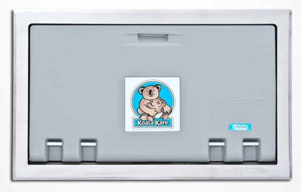Horizontaal Inbouw - Koala babyverschoonstation Grijs KB100-ST met RVS-Bekleding Koala Kare Products KB100-ST