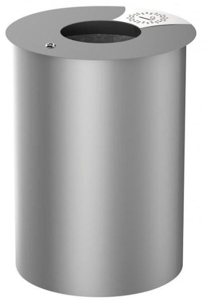 Urbis prullenbak 60L met binnenbak van gegalvaniseerd staal van Rossignol Rossignol 56204,56205