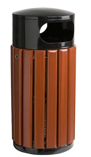 Zeno buitenafvalbak met binnenbak van gegalvaniseerd staal en houtlatten Rossignol 57996,5821