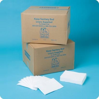 Papieren verschoonmatjes voor de babyverschoontafel of commode KB150-99