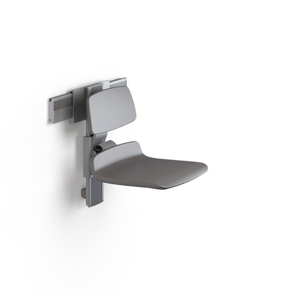 Pressalit shower seat in white or anthracite gray with manually adjustable height Pressalit R7440182000,R7440182112