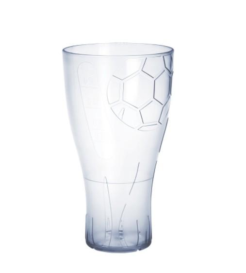 EURO CUP voetbal bierglas 0,5l kristalheldere plastic herbruikbare voedselkluis Schorm GmbH 9053