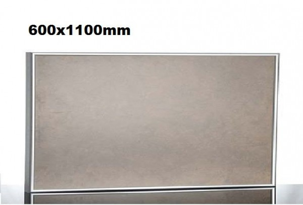 Infrarood verwarming beige incl. aluminium frame en muurbevestiging houder van Elbo Elbo therm TA600,TA600,TA700,TA700,TA800,TA800