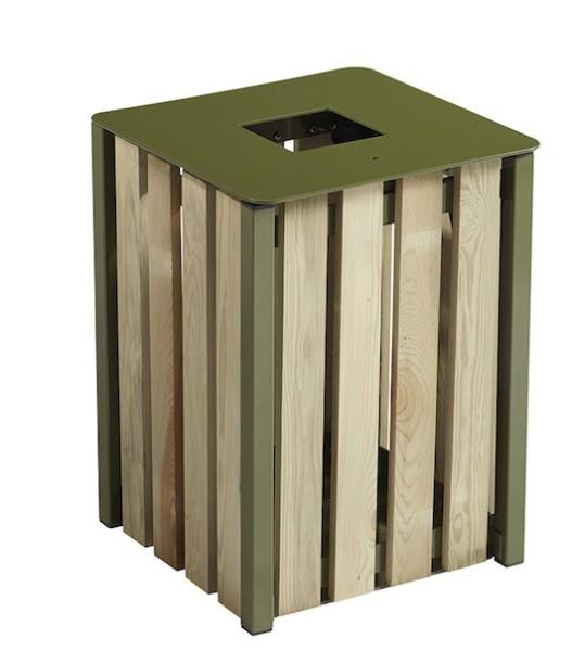 Eden vuilnisbak 50L gemaakt van staal met corrosiewerende behandeling Rossignol 57874,57875,57873