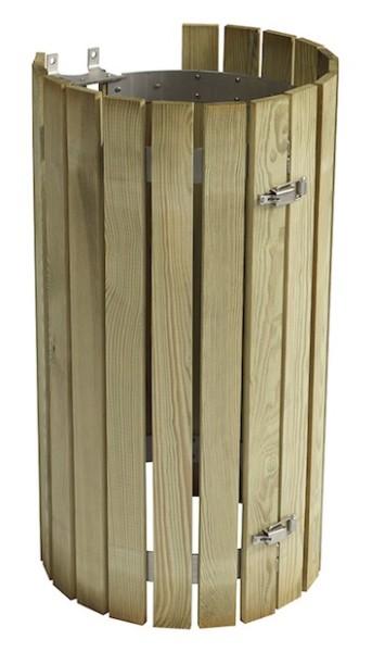 Collec houten latten bekleding van ge•mpregneerd naaldhout voor vuilnisbak Collecmur Rossignol 57800