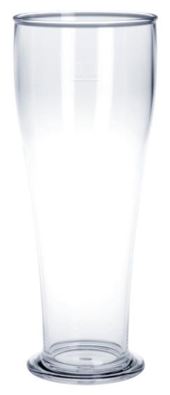 SET 53 stuks Witbierglas 0,5L SAN kristal helder van plastic herbruikbaar en robuust Schorm GmbH 9042