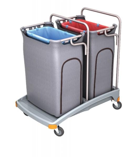 Splast dubbele plastic vuilophaal trolley met die 2 x 120l Splast TSO-0007,TSO-0008