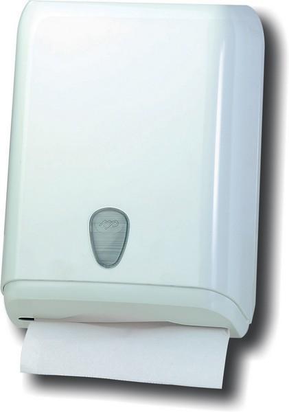 Marplast papierhanddoek dispenser in wit gemakt van kunststof voor wandmontage MP592 Marplast S.p.A. 592